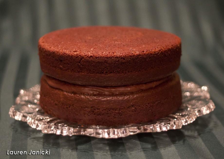 Porter Layer Cake pre-frosting