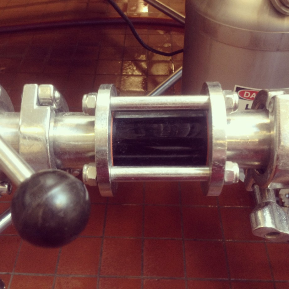 Part of brewing machinery at Founders
