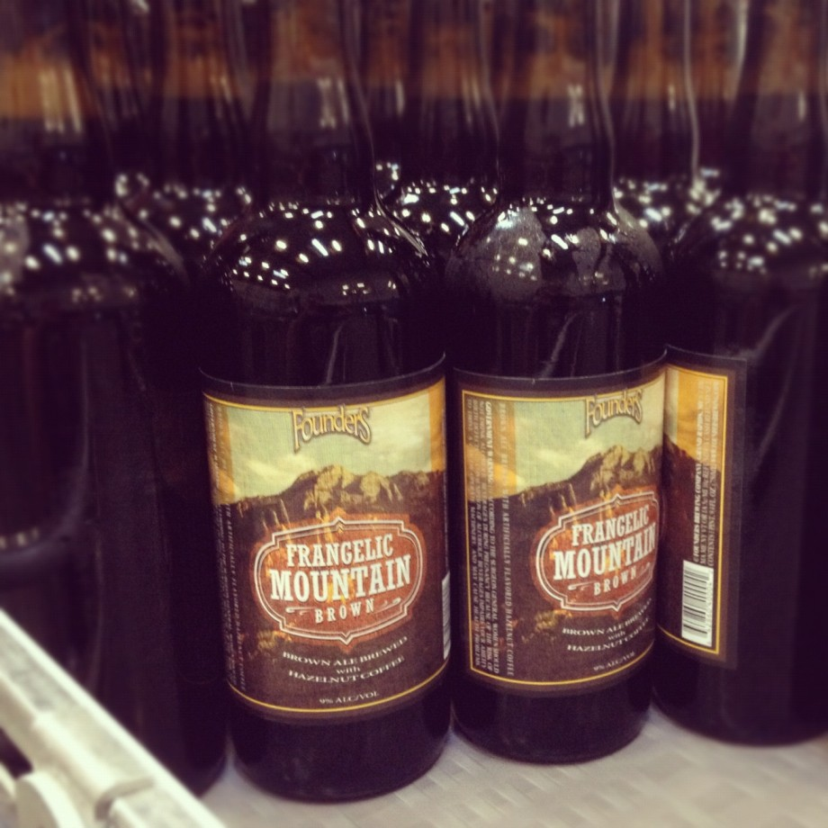 Frangelic Mountain Brown on the Founders bottling line