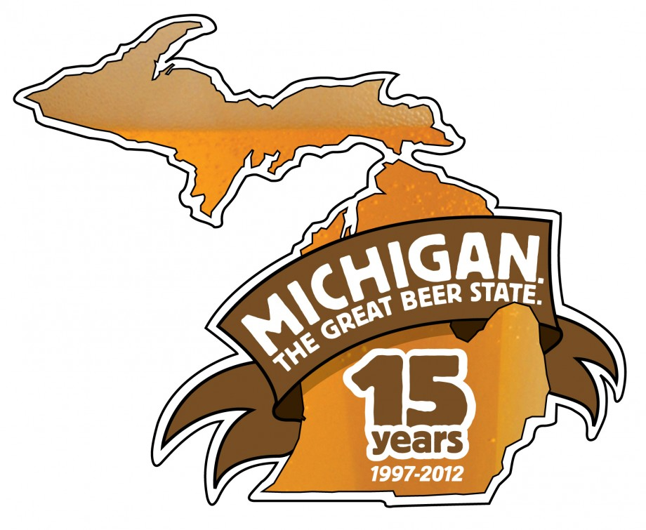 Michigan Brewers Guild 15th anniversary logo