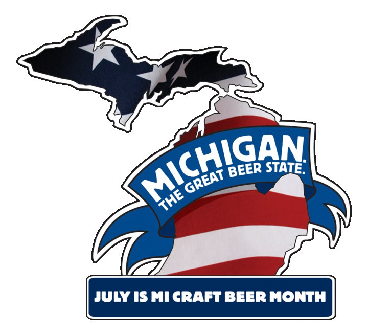 Michigan craft beer month logo