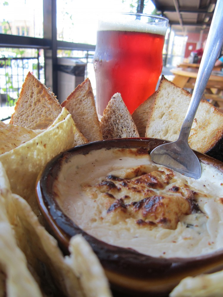 Founders Beer Cheese Dip with a Red's Rye PA