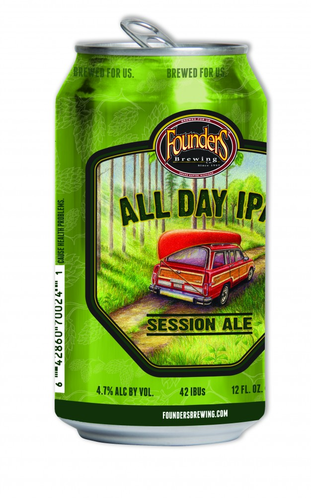 Founders All Day IPA in a 12 oz. Can