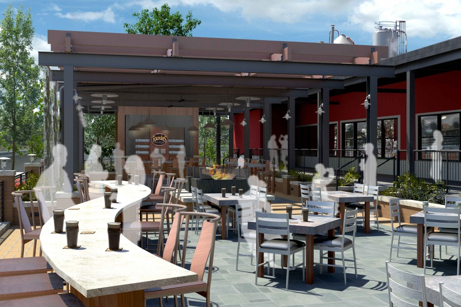 Founders New Beer Garden rendering