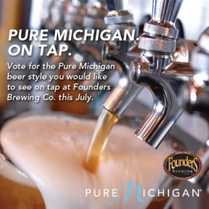 Founders Pure Michigan on Tap event poster