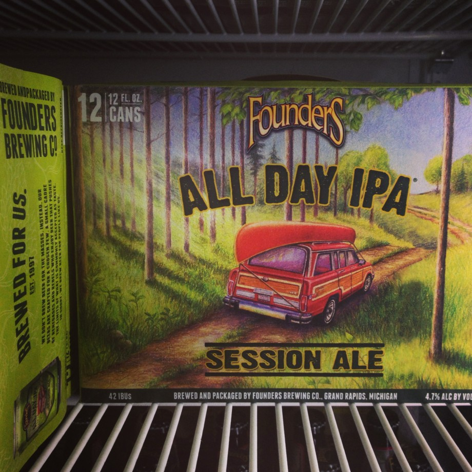 Founders All Day IPA 12-pack in cooler