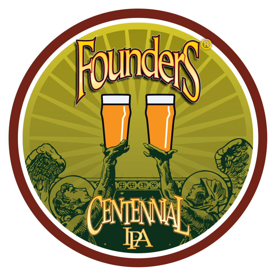 Founders Centennial IPA Untappd badge