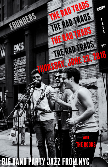 The Rad Trads band poster