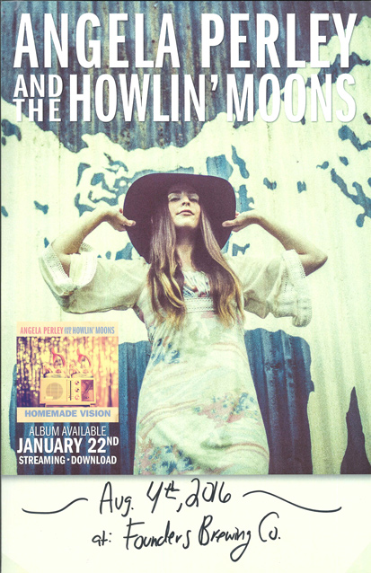 Angela Perley & The Howlin' Moons band poster