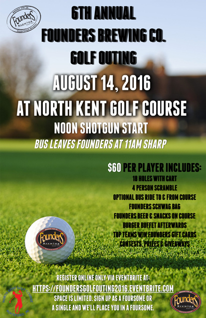 6th Annual Founders Golf Outing event poster
