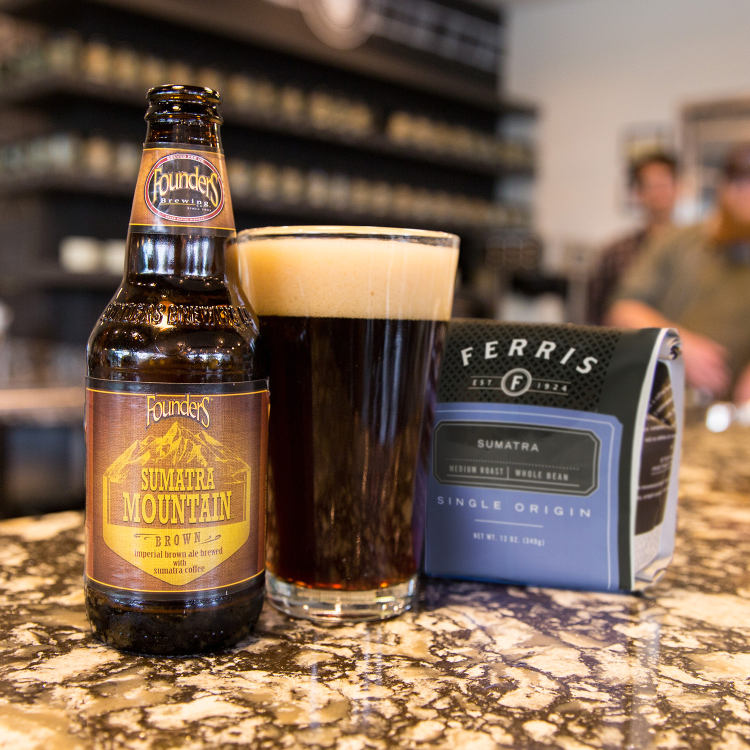 Founders Sumatra Mountain beer with Ferris coffee