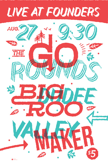The Go Rounds band poster
