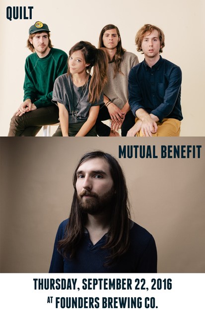 Quilt band with Mutual Benefit band poster