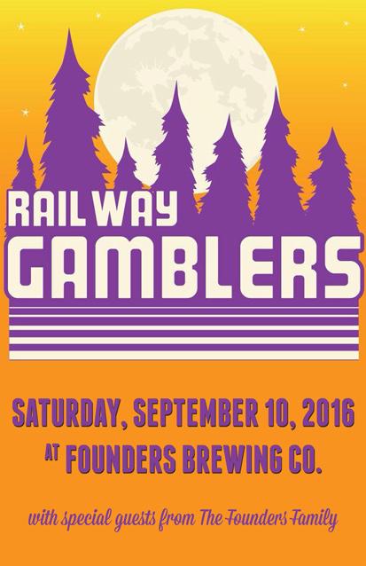Railway Gamblers band poster