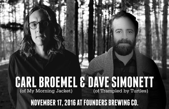 Carl Broemel & Dave Simonett band poster