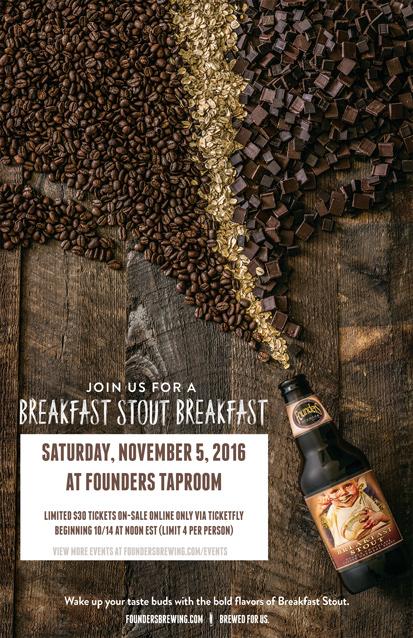Founders Breakfast Stout Breakfast event poster