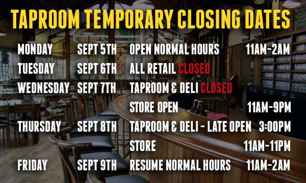 TaproomTempClosed-Updated