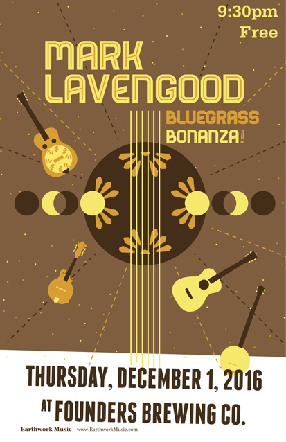 Mark Lavengood Bluegrass Bonanza band poster