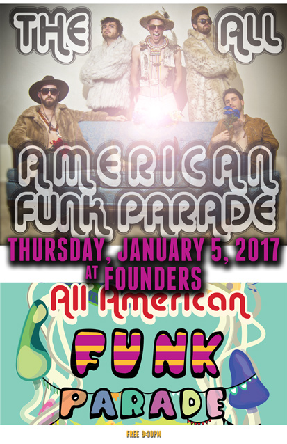 The All American Funk Parade band poster