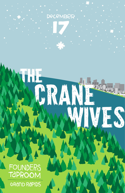 The Crane Wives band poster