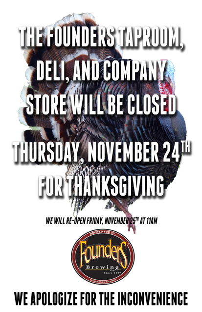 Taproom closed promotion poster