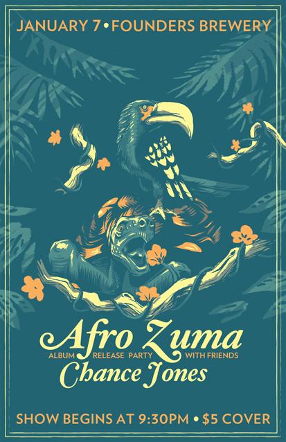 Afro Zuma band poster