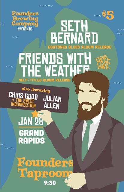 Seth Bernard band poster