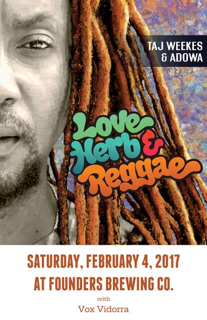 Love Herb & Reggae band poster