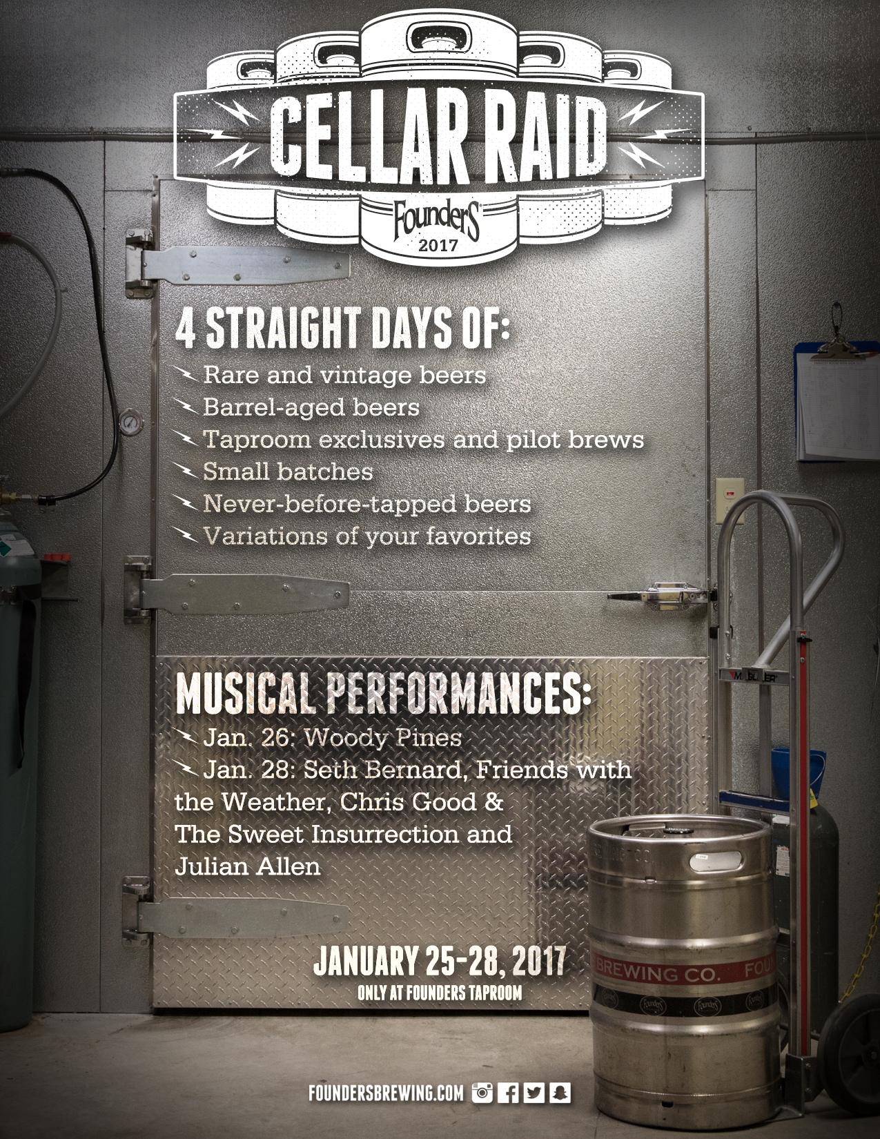 Founders Cellar Raid event poster