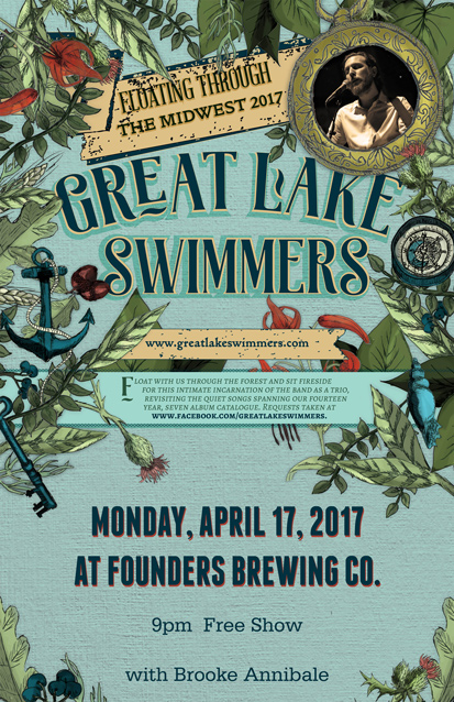 Great Lake Swimmers band poster