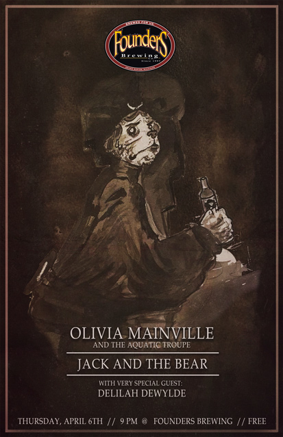 Olivia Mainville and the Aquatic Troupe band poster