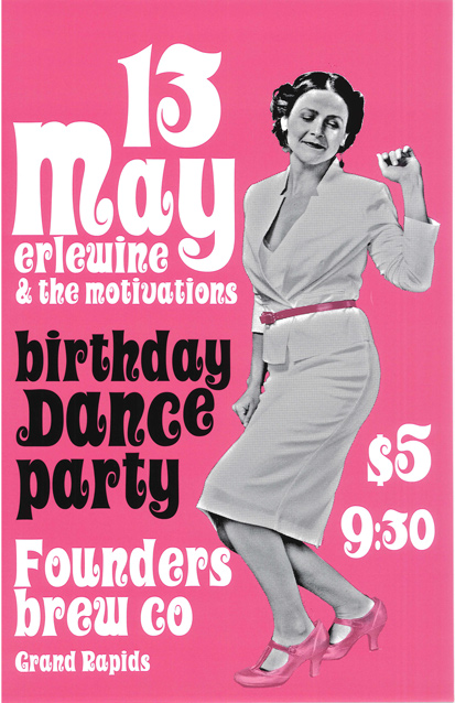 May Erlewine & The Motivations band poster
