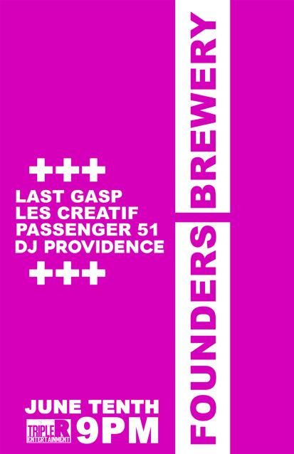 Last Gasp, Les Creatif, Passenger 51, DJ Providence band poster