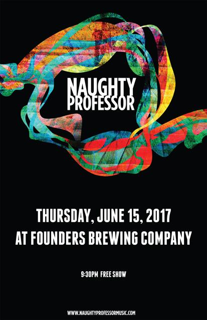 Naughty Professor band poster