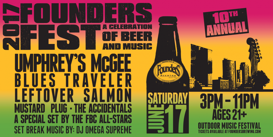 Founders Fest event poster