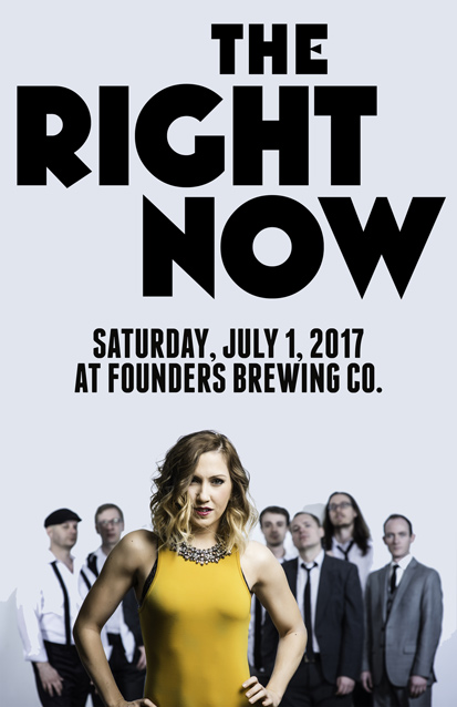 The Right Now band poster