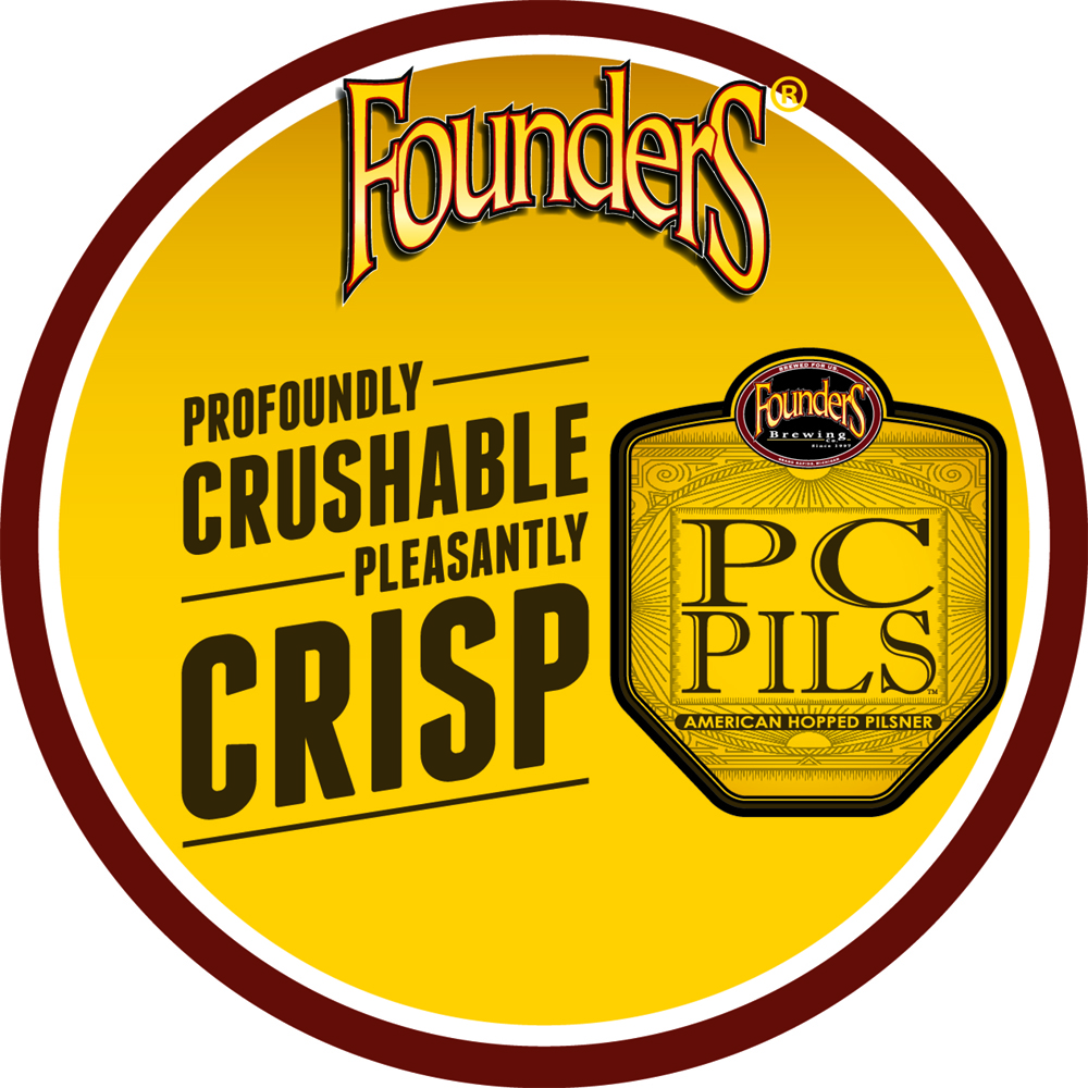 Founders PC Pils Untappd badge
