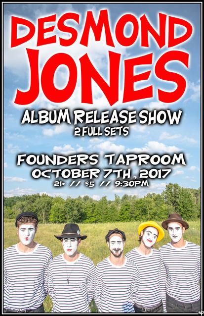Desmond Jones band poster