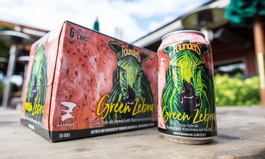 Founders Green Zebra beer cans