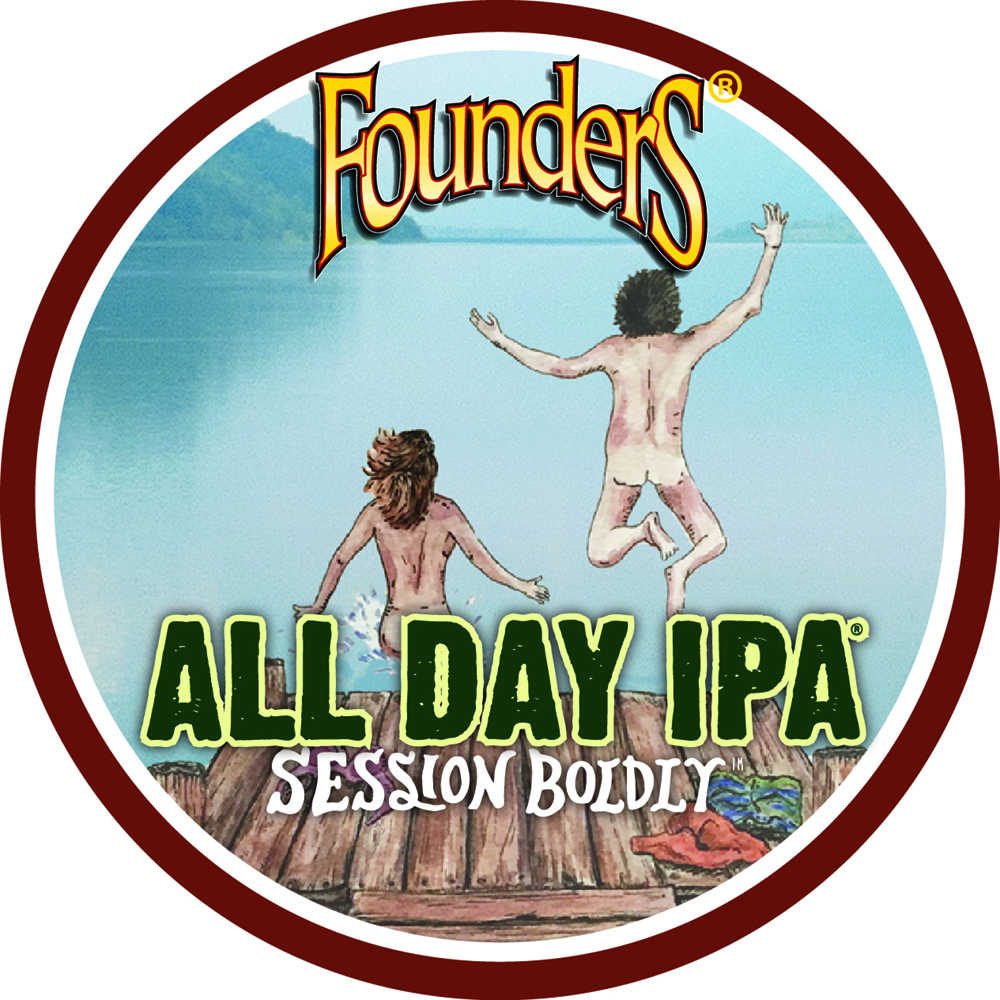 Founder's All Day IPA Session Boldly Untappd Badge