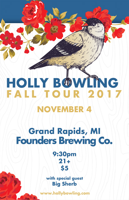 Holly Bowling band poster