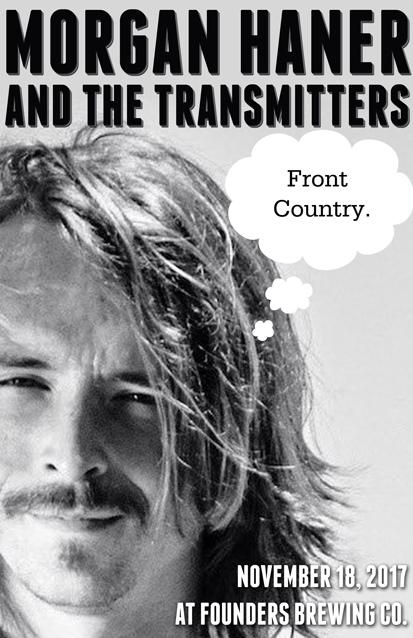 Morgan Haner and the Transmitters band poster