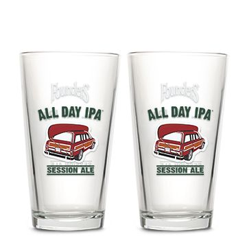 Two All Day IPA pint glasses
