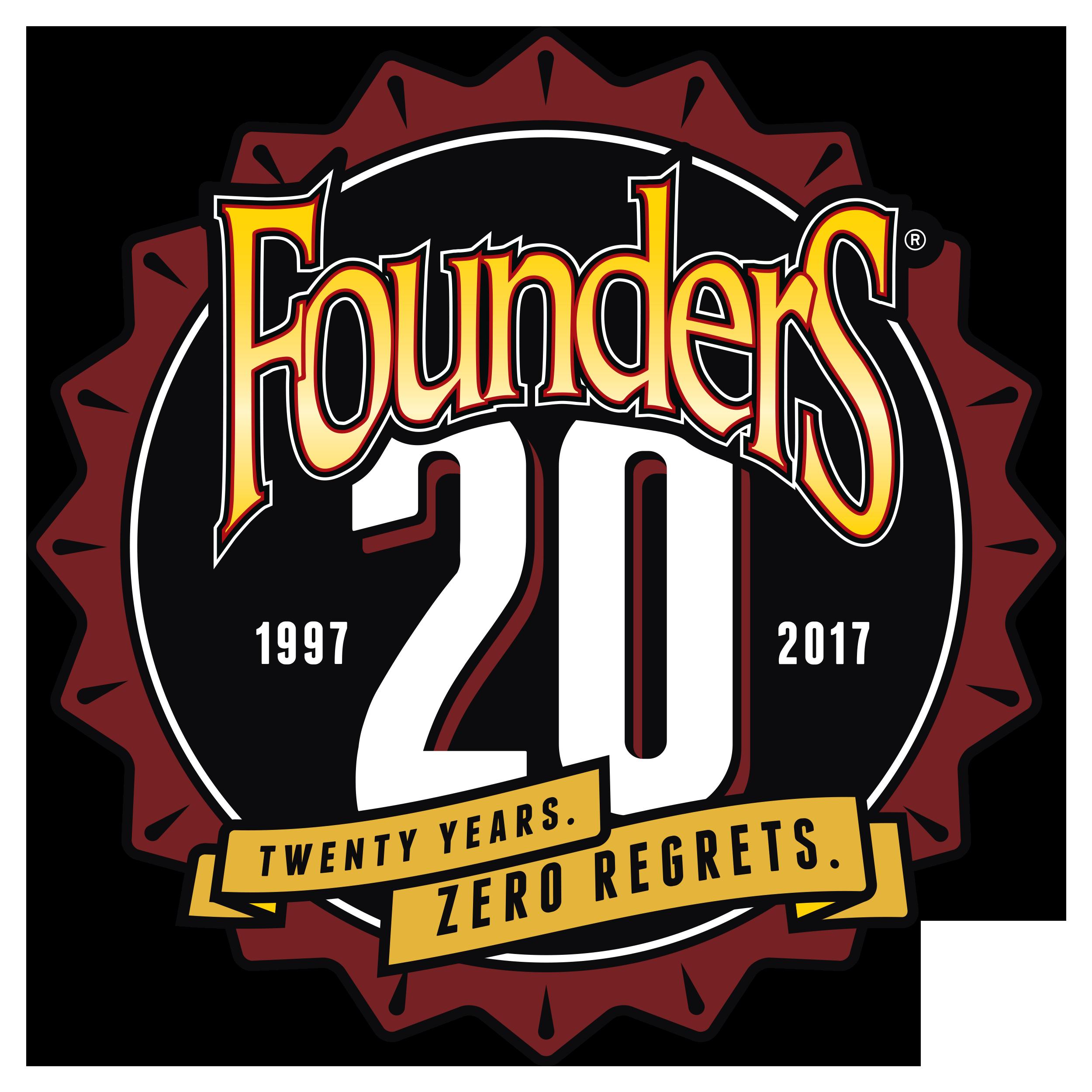 Founders 20 year anniversary logo