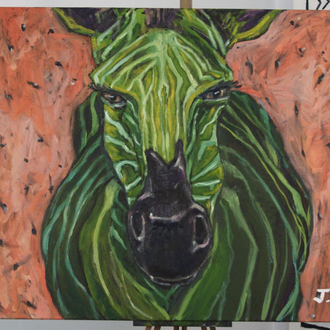 Founders Green Zebra artwork
