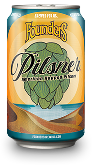 Can of Founders Pilsner