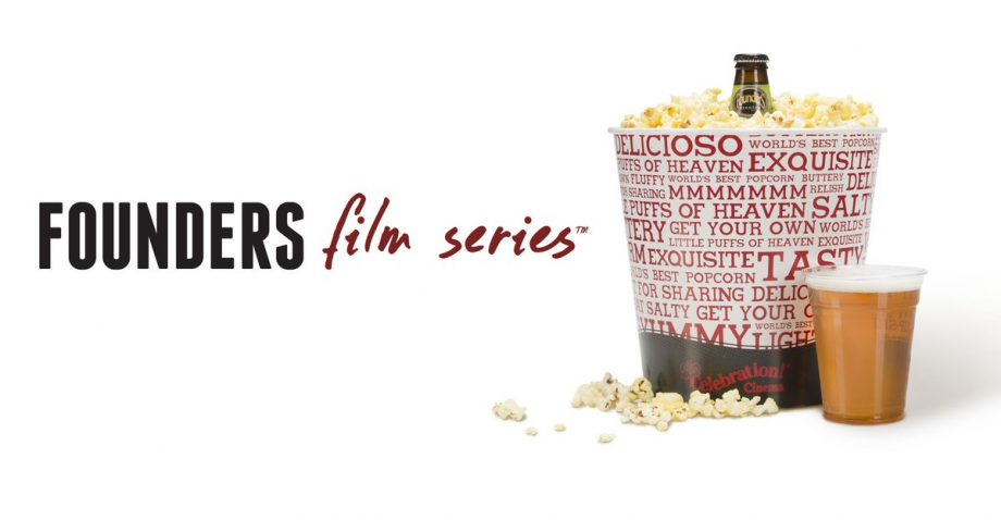 Founders Film Series with popcorn and beer