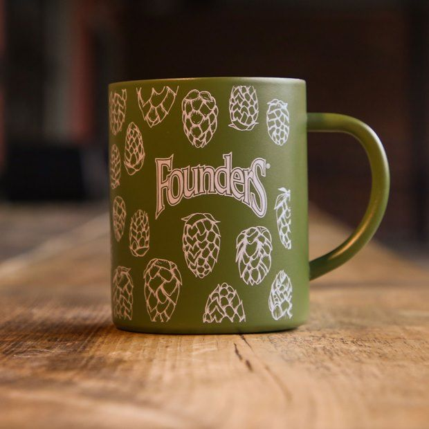 Founders green hops mug