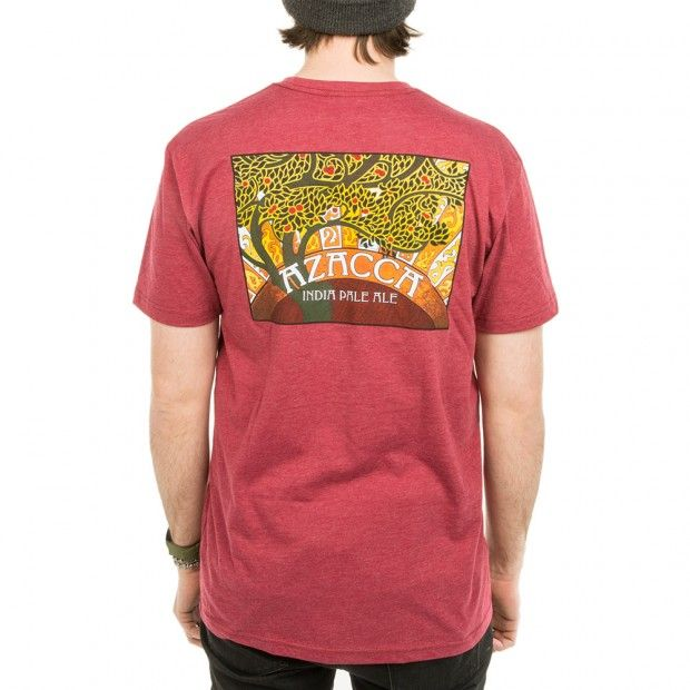 Azacca Indian Pale Ale red short sleeve shirt