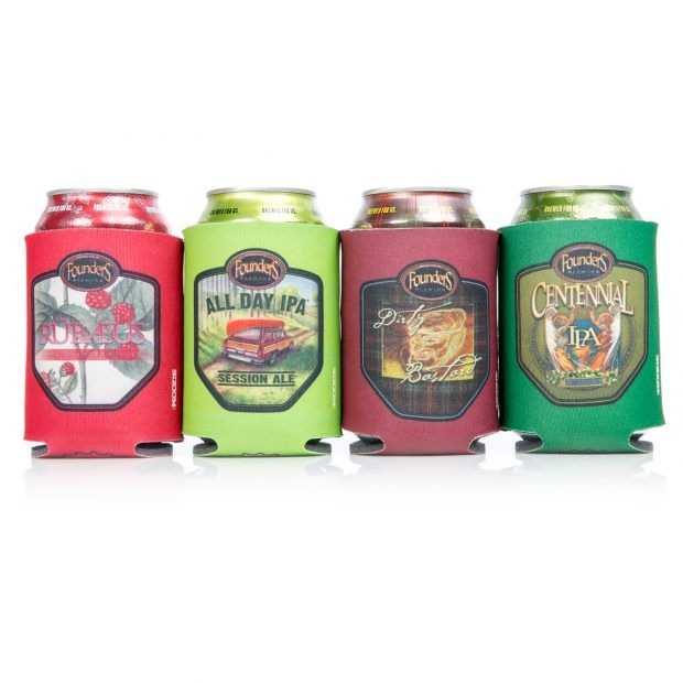 Founders beer koozies and cans